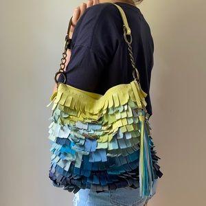 Coach Legacy Ocean Fish Scale Fringed Duffle Bag